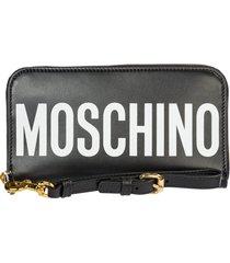 moschino teddy bear label wallet