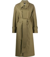 ami paris oversize belted coat - brown