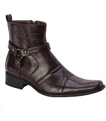 dress boots new bonafini  men's  italian style with zipper brown  d 700