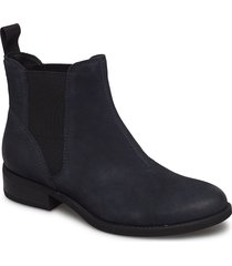 cary shoes boots chelsea boots ankle boots flat heel svart vagabond