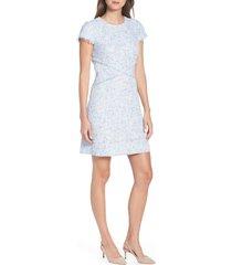 women's eliza j sheath tweed sheath dress, size 18 - blue