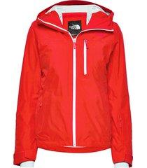 w descendit jacket fiery red outerwear sport jackets röd the north face