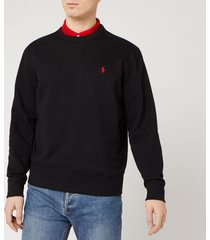 polo ralph lauren men's fleece sweatshirt - polo black - xxl