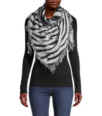 zebra-print sequined scarf