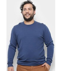 blusa tricô delkor plus size masculina