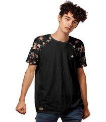 camiseta t-shirt raglan floral summer 2020 masculina - masculino