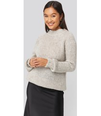 trendyol bike collar knitted sweater - grey