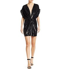 lilou ruched sequin dress