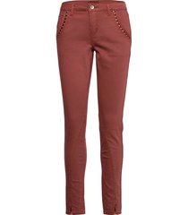 hollycr twill pants - baiily fit rechte jeans rood cream
