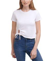 calvin klein jeans keyhole tie t-shirt