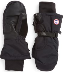 men's canada goose arctic down mittens, size x-large - black