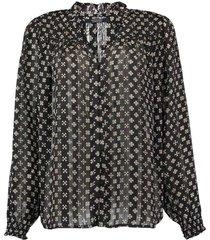 blouse ruffle zwart