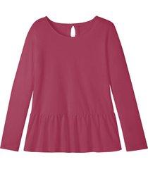 jersey shirt met schootje en druppelvormige opening op de rug, bes 46