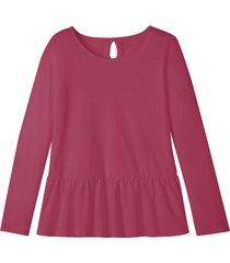 jersey shirt met schootje en druppelvormige opening op de rug, bes 44