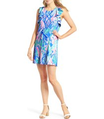 women's lilly pulitzer esmeralda shift dress, size x-large - blue