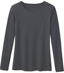 biologisch katoenen shirt met ronde hals en lange mouwen, lei 36/38