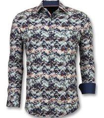 overhemd lange mouw tony backer bijzondere overhemden - luxe italiaanse -