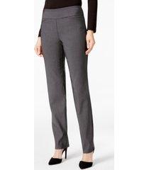 charter club petite cambridge checkered slim-leg pants, created for macy's