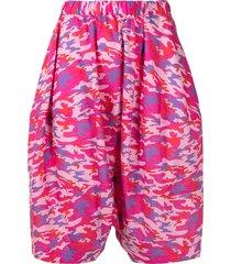 comme des garçons girl camouflage oversized skirt - pink