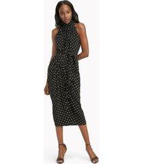 tommy hilfiger women's essential dot halter dress black/ivory - 2
