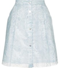 paskal reflective translucent printed skirt - blue