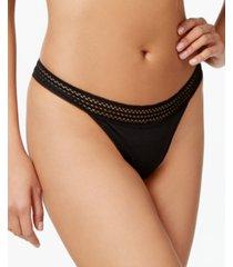 dkny lace trim thong underwear dk5007