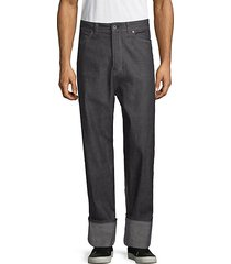 relaxed-fit cotton jeans