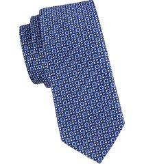 all over logo silk tie