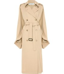 jw anderson open-sleeve cape trench coat - neutrals