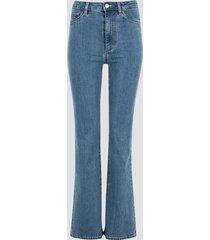 jane high waist bootcut jeans - blå