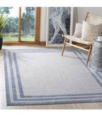 "safavieh harbor light blue and dark blue 5'3"" x 7'6"" sisal weave area rug"