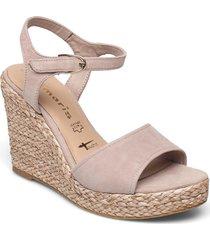 woms sandals sandalette med klack espadrilles rosa tamaris