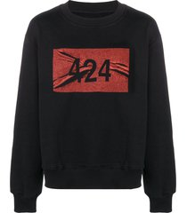 424 logo print sweatshirt - black