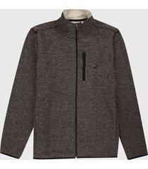 chaqueta gris-negro nautica