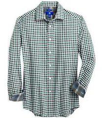 egara light green gingham modern fit sport shirt