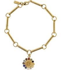 aether multi gemstone disk bracelet