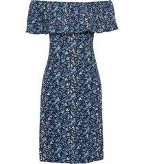 abito in maglina con spalle scoperte (blu) - bodyflirt