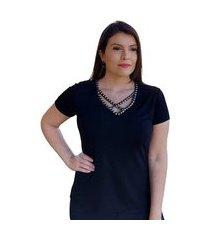 blusa bordada pedraria chumbo t-shirts em malha