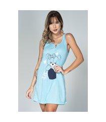 camisola feminina malha serra e mar modas estampada nathália azul claro