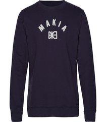 brand sweatshirt sweat-shirt trui blauw makia