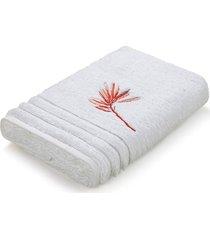toalha de lavabo e rosto costa dorata trussardi   pronta entrega