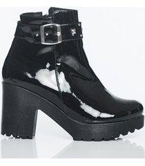 botas negro charol kclass top 1906