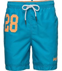 waterpolo swim short surfshorts blå superdry