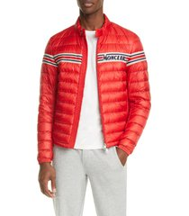 men's moncler renald puffer down jacket, size 5 - red