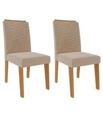 conjunto com 2 cadeiras clarice nude e nature
