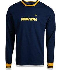 camiseta new era logo branded manga longa masculina