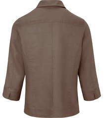 blouse van 100% linnen met 3/4-mouwen van peter hahn beige