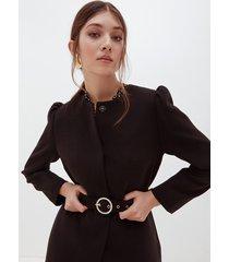motivi cappotto leggero con cintura donna nero