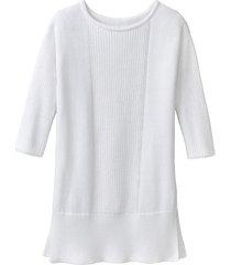 gebreide pullover van bio-katoen, wit 40