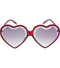 women's rad + refined heart shaped sunglasses -